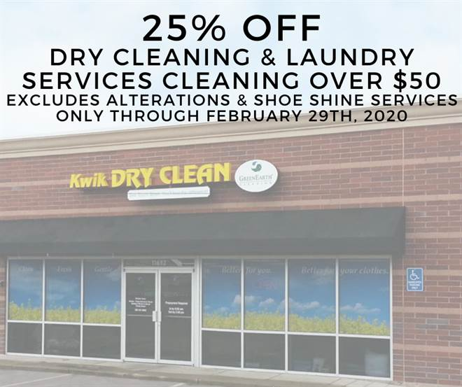 25% Off Dry Cleaning & Laundry